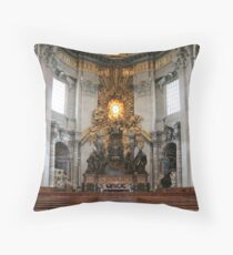 """Cathedra Petri or """"Throne of St. Peter"""" Throw Pillow"""