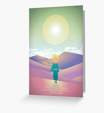 Little Prince in the desert Greeting Card