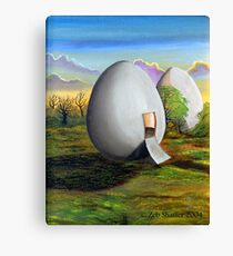 Back to the egg Canvas Print
