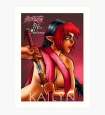 Girls of Azerath - Miss Autumn Art Print