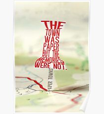Town was paper Typography (Paper Towns 4 of 7) Poster