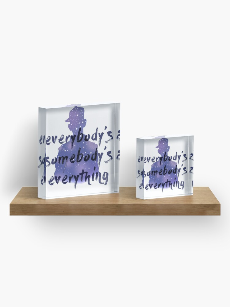 """Alternate view of """"Everybody's Something"""" Chance the Rapper Lyric Acrylic Block"""