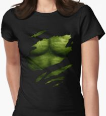The Incredible Green Super Soldier Womens Fitted T-Shirt