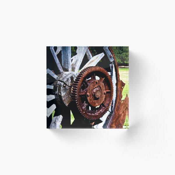 Wheel and cog Acrylic Block