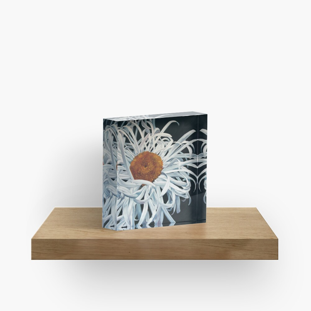 Hairy Daisy Hi Res Acrylic Block