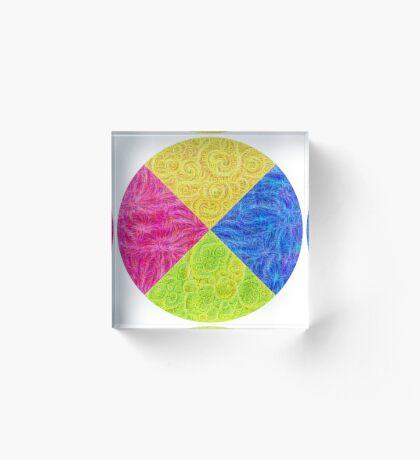 #DeepDream Color Circle Visual Areas 6x6K v1448932478 Acrylic Block