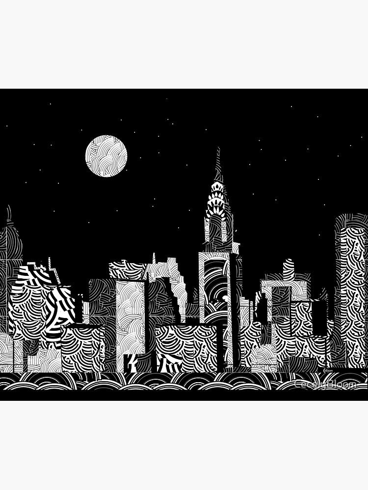 Manhattan Night New York Skyline Swings by CecelyBloom