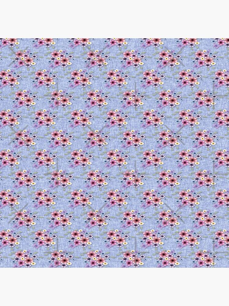 Blue Floral Clusters de alliemac