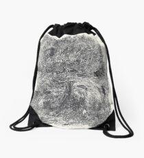 Serie Nightmare #1 Homage to Felicien Rops - Monotype  Drawstring Bag