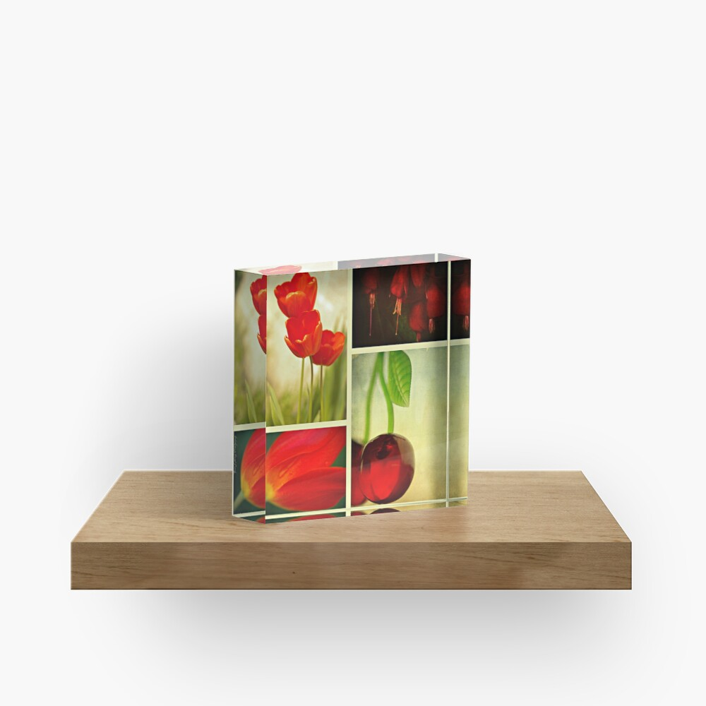 Nature in Red Acrylic Block