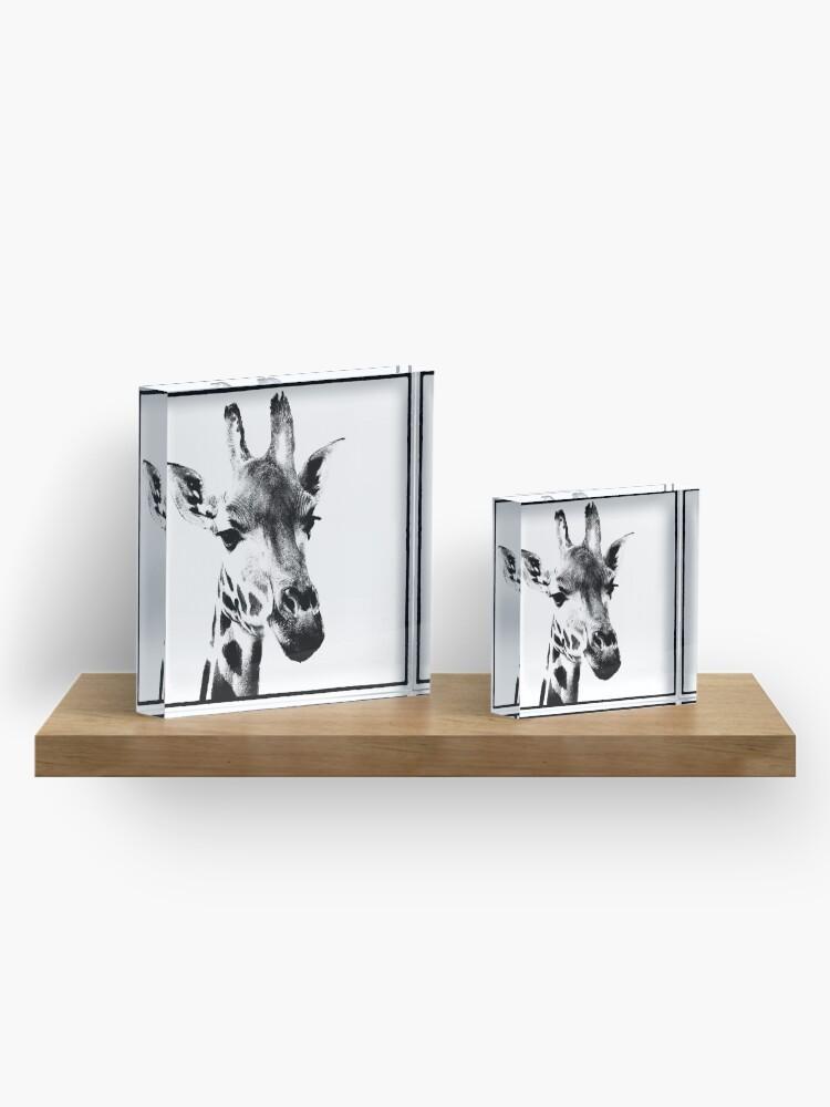 Alternate view of Gentle Giraffe Acrylic Block