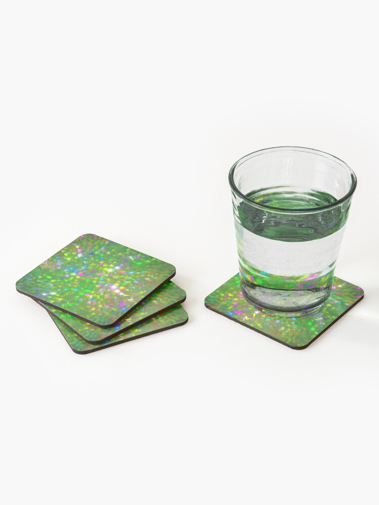Alternate view of Summer #fractal art Coasters (Set of 4)