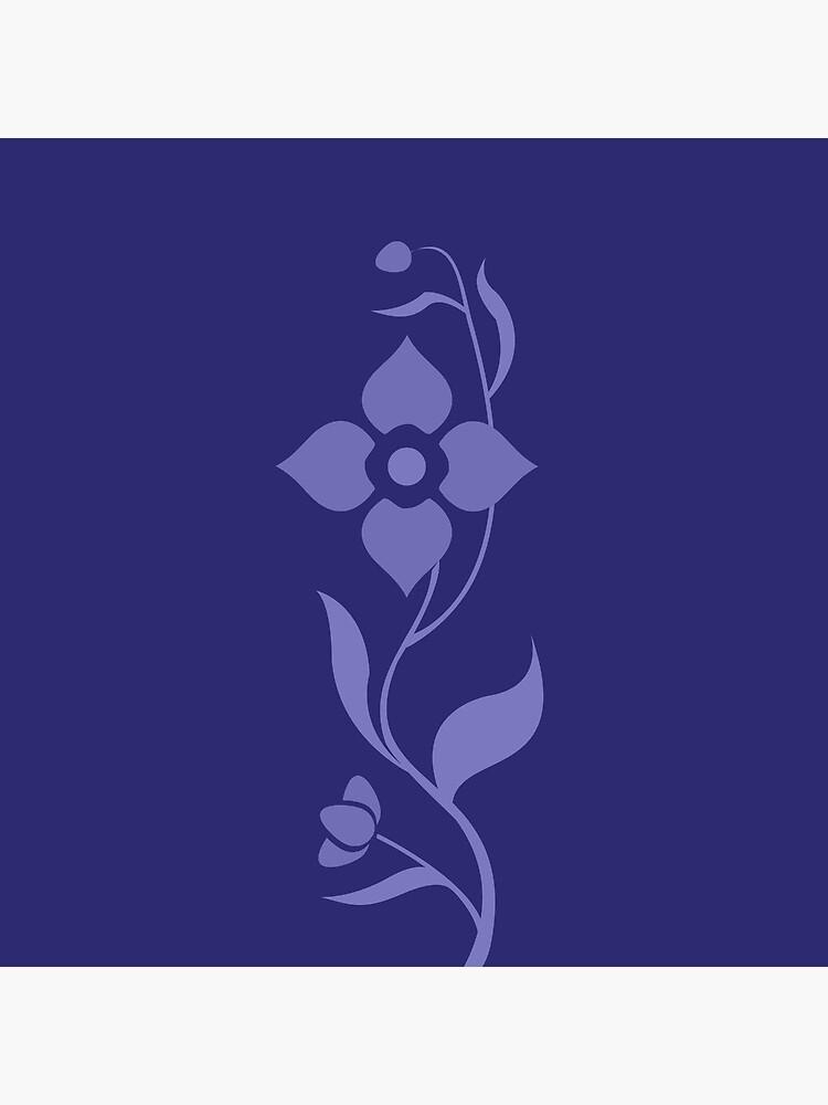 Modern Blue Floral de macdesigns