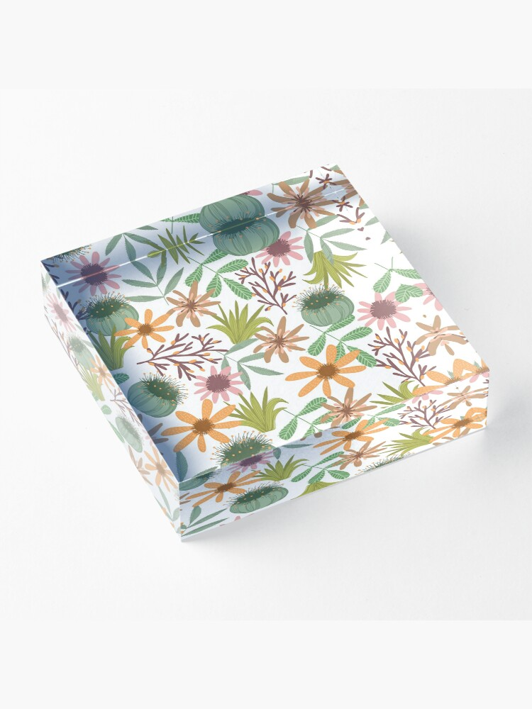 Vista alternativa de Bloque acrílico floral pattern exotik flowers