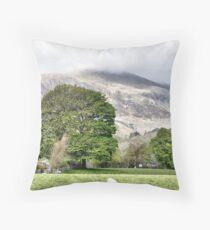 Scotch landscape Throw Pillow