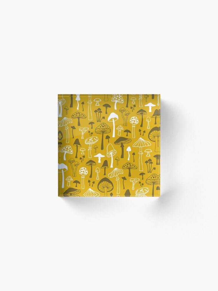 Alternative Ansicht von Pilze in Gelb Acrylblock