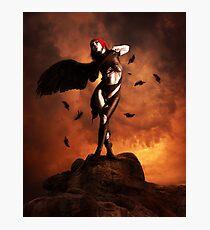 Black wing unfurled Photographic Print