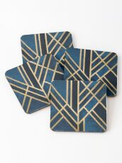 Art Deco Midnight Coasters
