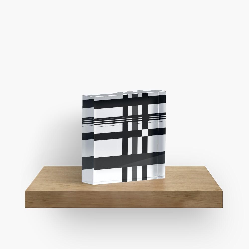Black n' White plaid Acrylic Block