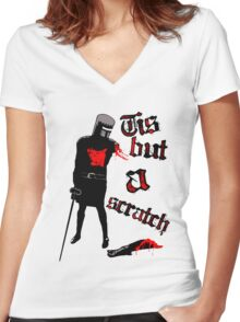 Tis but a scratch - Monty Python's - Black Knight Women's Fitted V-Neck T-Shirt