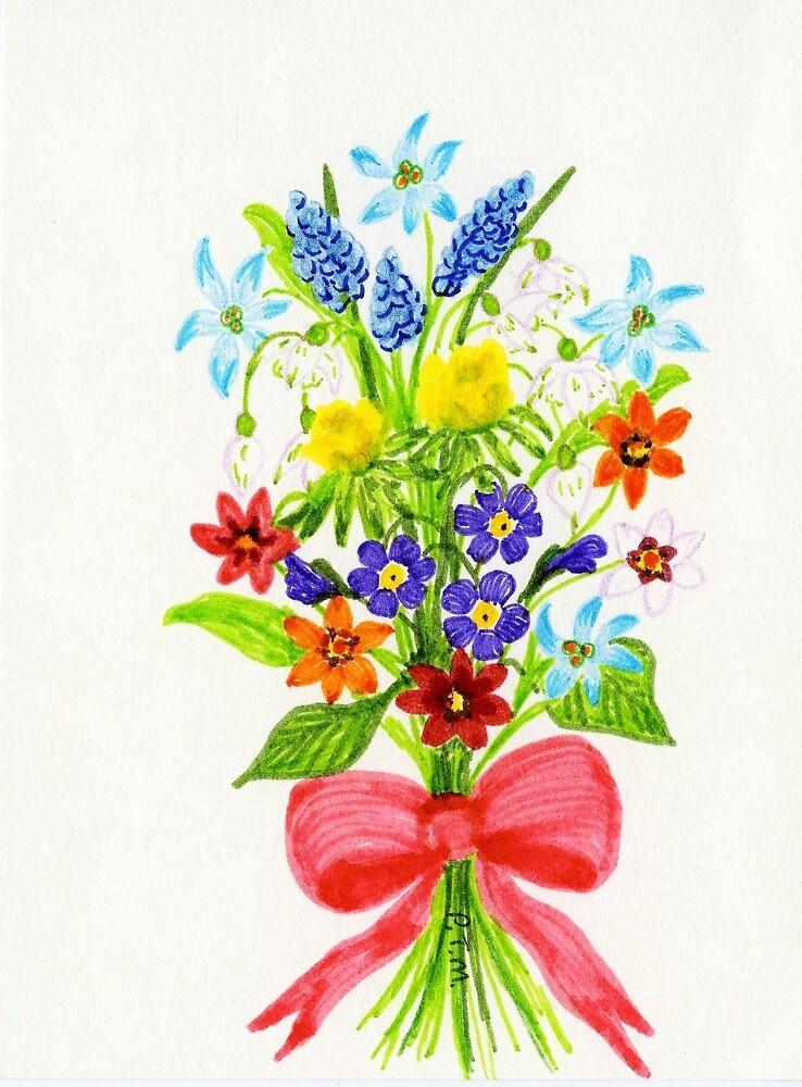 Floral Art GRAPE HYACINTHS by ptmart