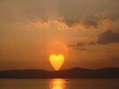 Heart Shaped Sun by ValeriesGallery