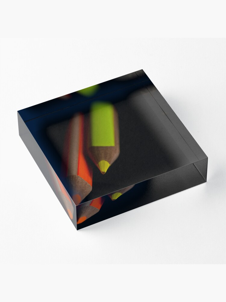 Alternate view of Colors out of darkness Acrylic Block