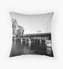 cass street bridge Throw Pillow