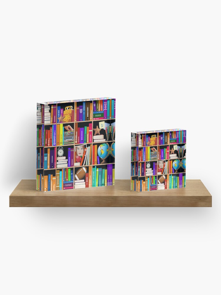 Vista alternativa de Bloque acrílico Librería Libro de texto Libros de texto