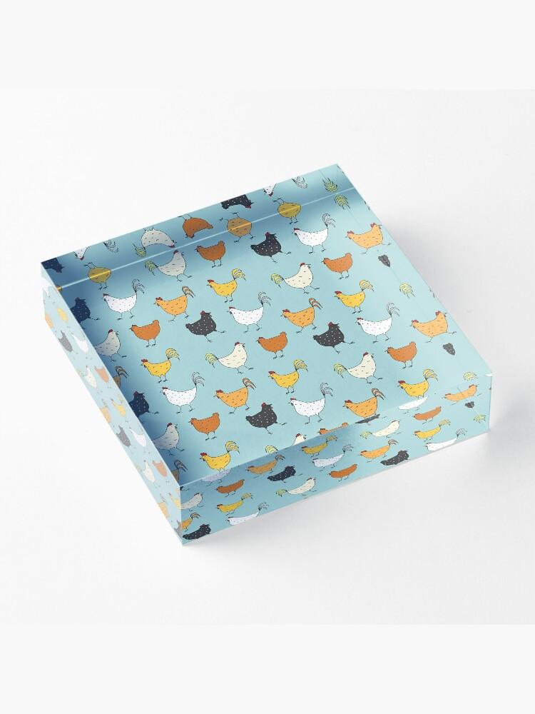 Alternate view of Chicken Pattern Acrylic Block