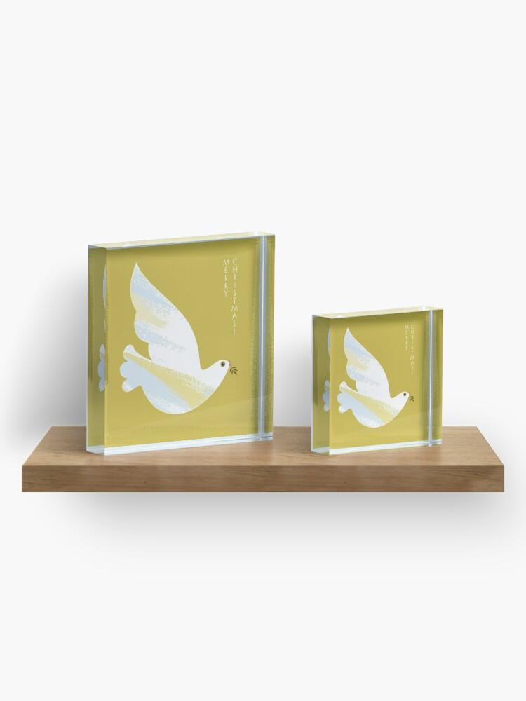 Alternate view of Christmas Dove Acrylic Block