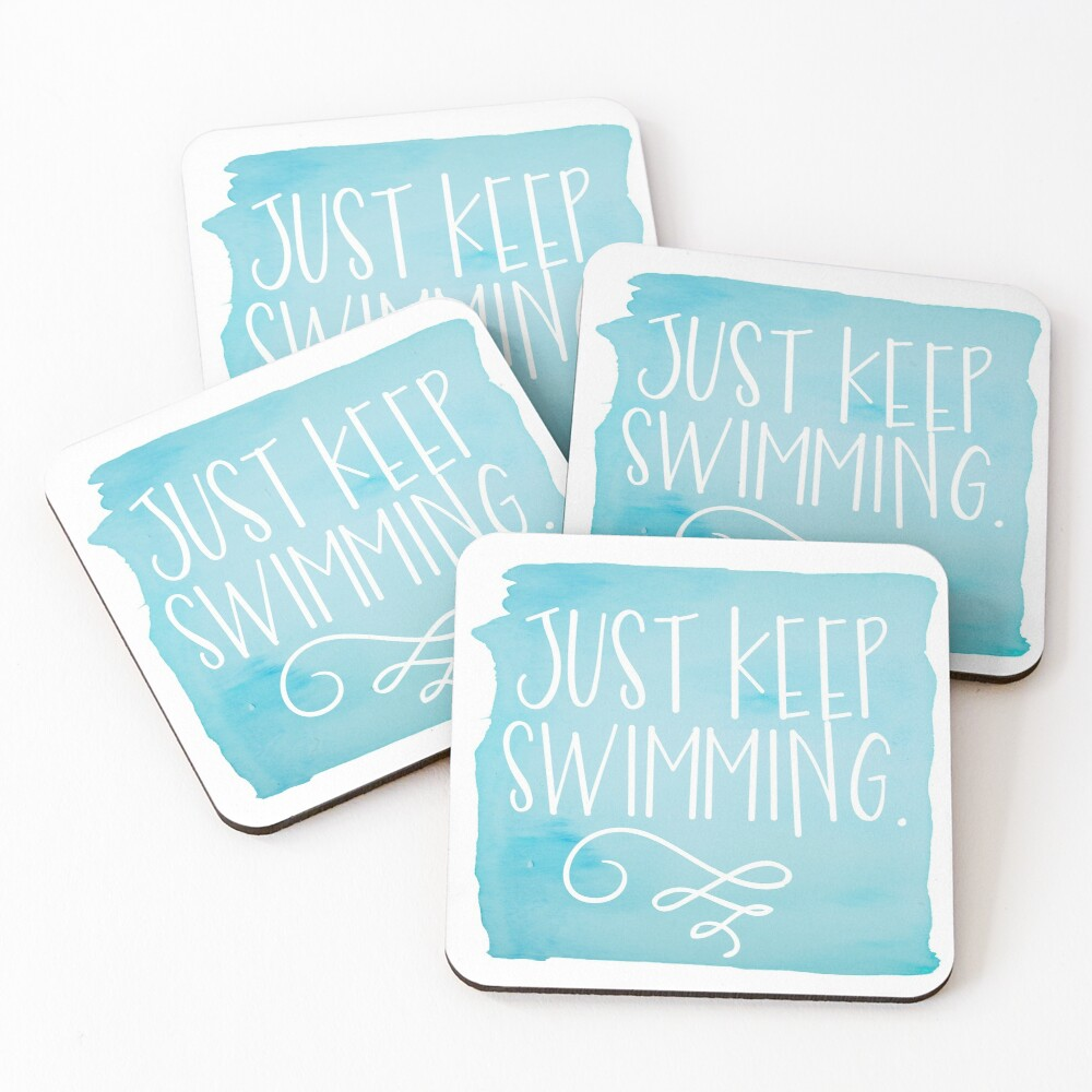 Just Keep Swimming Coasters (Set of 4)