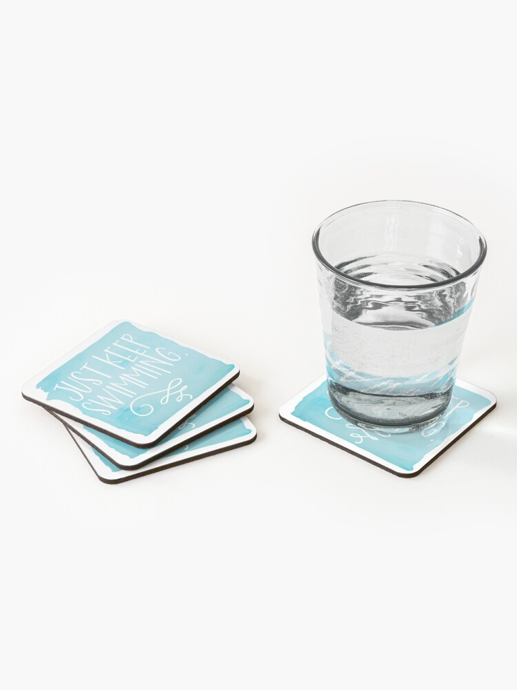 Alternate view of Just Keep Swimming Coasters (Set of 4)