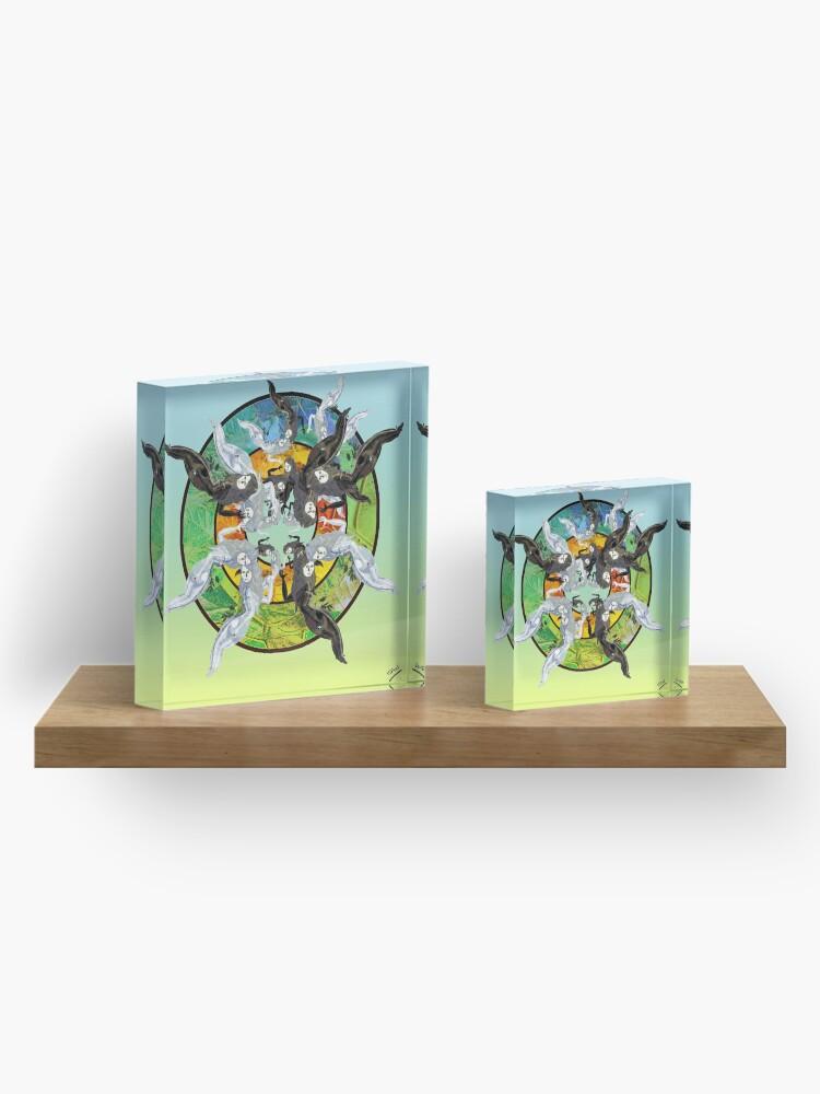 Vista alternativa de Bloque acrílico Stained Glass figures