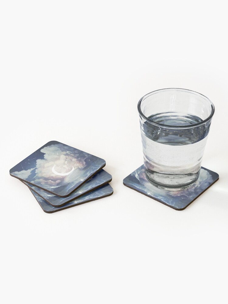 Alternate view of upon the sky-foam. Coasters (Set of 4)