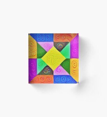 DeepDream Color Squares Visual Areas 5x5K v1447913433 Acrylic Block