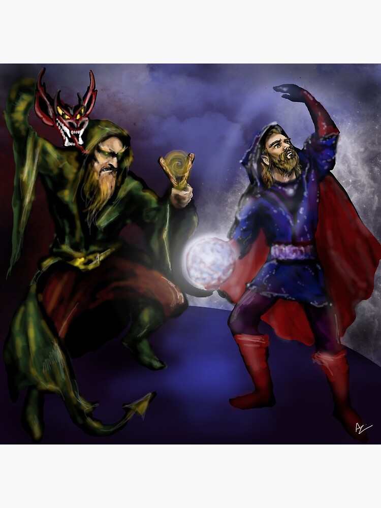 wizards at battle by Anthropolog