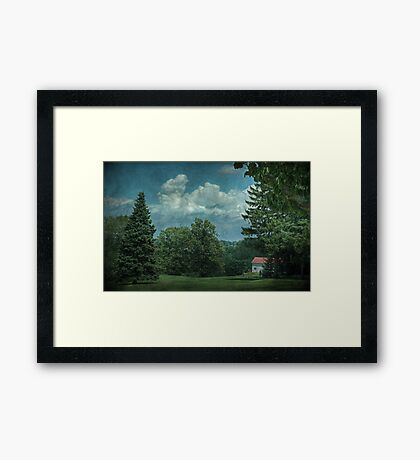 Teeing Off Framed Print