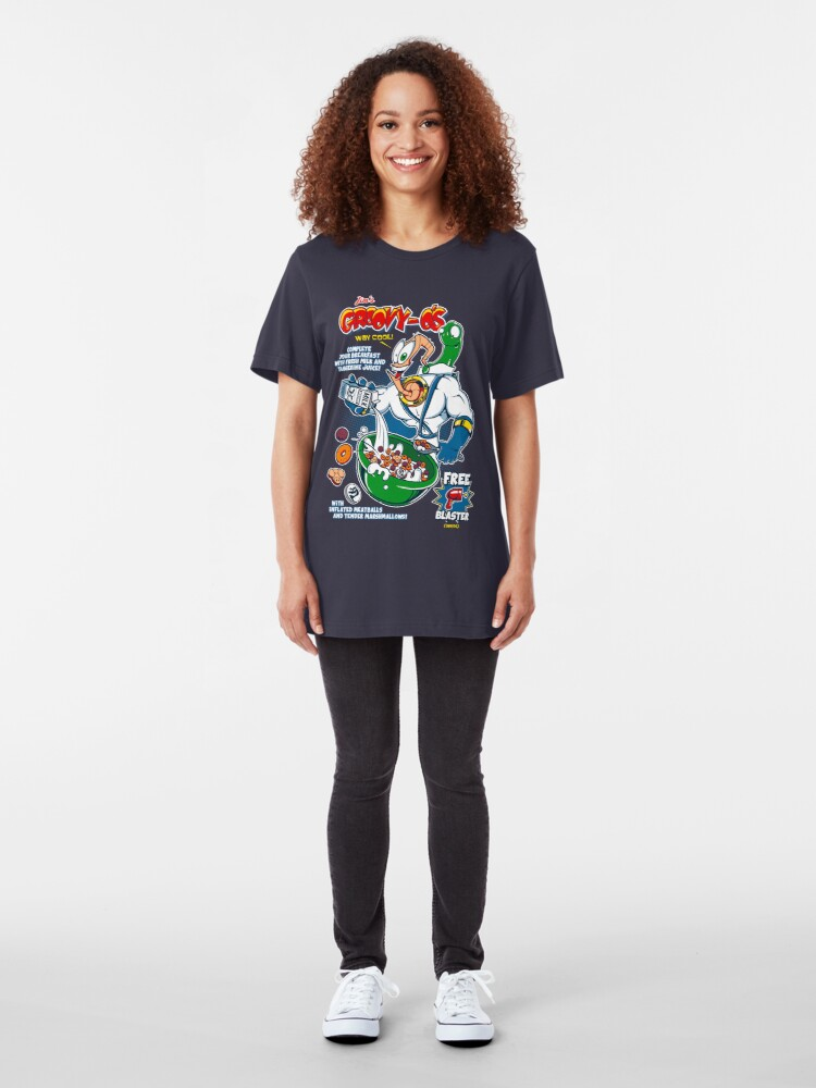 Alternate view of Groovy-Os Cereal v2 Slim Fit T-Shirt