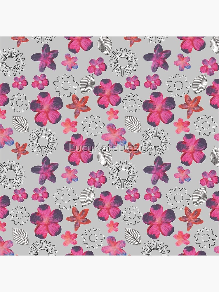 Watercolour Floral Pattern by LucyKateDesign