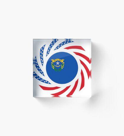 Nevadan Murican Patriot Flag Series Acrylic Block