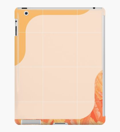 Mid-Century Tropical Orange Way #redbubble #tropical iPad Case/Skin