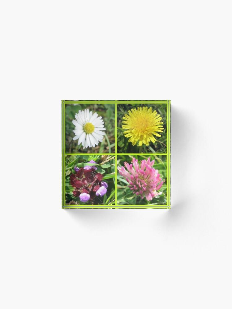 Alternative Ansicht von Wildflowers Collage Acrylblock