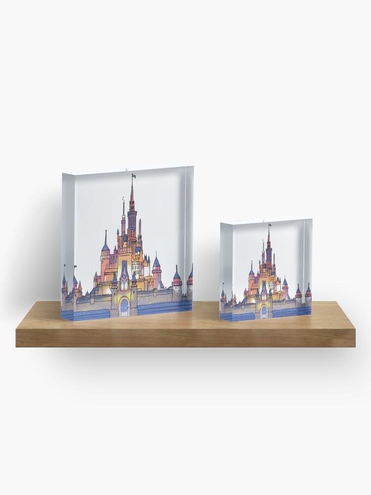 Alternative Ansicht von Aquarell Schloss Acrylblock