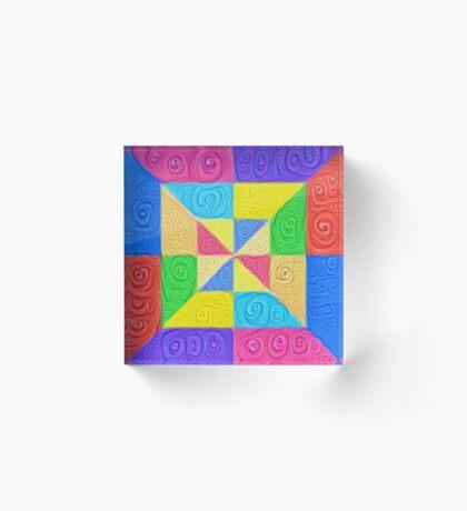 DeepDream Color Squares Visual Areas 5x5K v1448115896 Acrylic Block