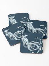 Sea Emperor Transparent Coasters