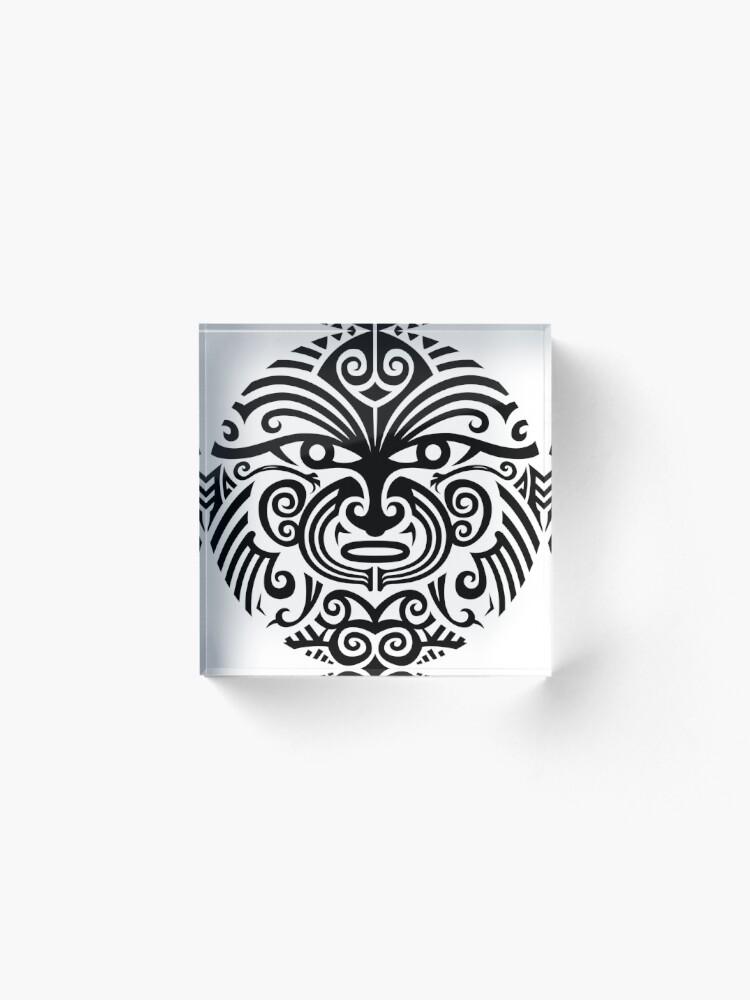 9d021f359 Maori tattoo face - white