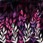 «Copy of Midnight Blue Garden - Botanical Pattern» de jnpdesign999