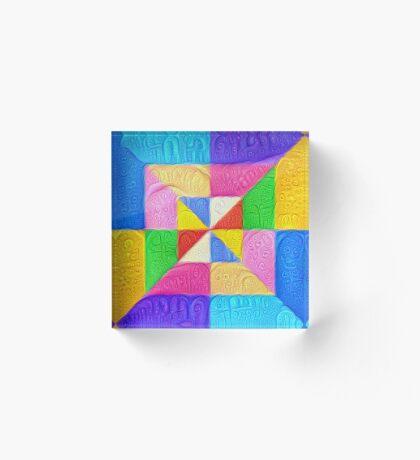 DeepDream Color Squares Visual Areas 5x5K v1448123183 Acrylic Block