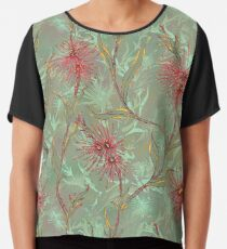 Red Gum Floral Chiffon Top